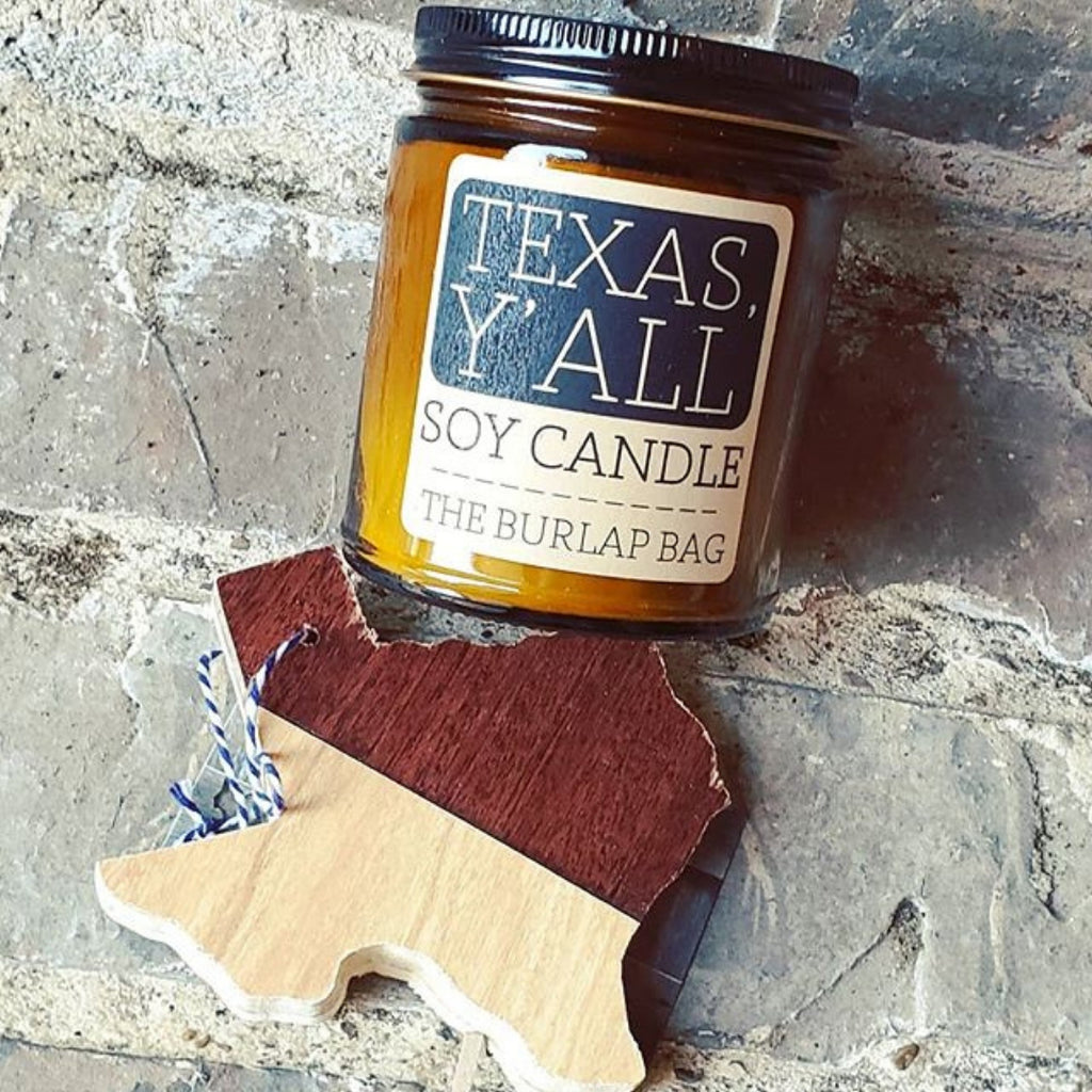 The Burlap Bag TEXAS, Y'ALL 9 oz Soy Candle