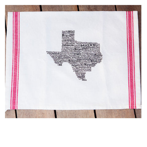 Turquoise Tulip Texas Food Towel