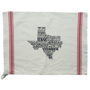 Turquoise Tulip Texas Wine Towel - Cool Beans Box