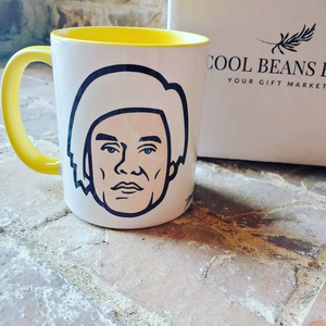 "Created by artist, Trevor Wayne, this ""Warhol"" 11 oz ceramic mug is definitely unique and celebrates the leading figure in the visual art movement known as pop art, Andy Warhol. A perfect mug for your  coffee or your beverage of choice.   This mug is dishwasher/microwave safe and printed in the USA."