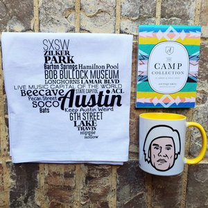 Treat someone or yourself to The Artsy One Box. It's filled with a wonderful Austin Tea Towel, lovely greeting cards, and an awesome Andy Warhol Coffee Mug. What's not to love!