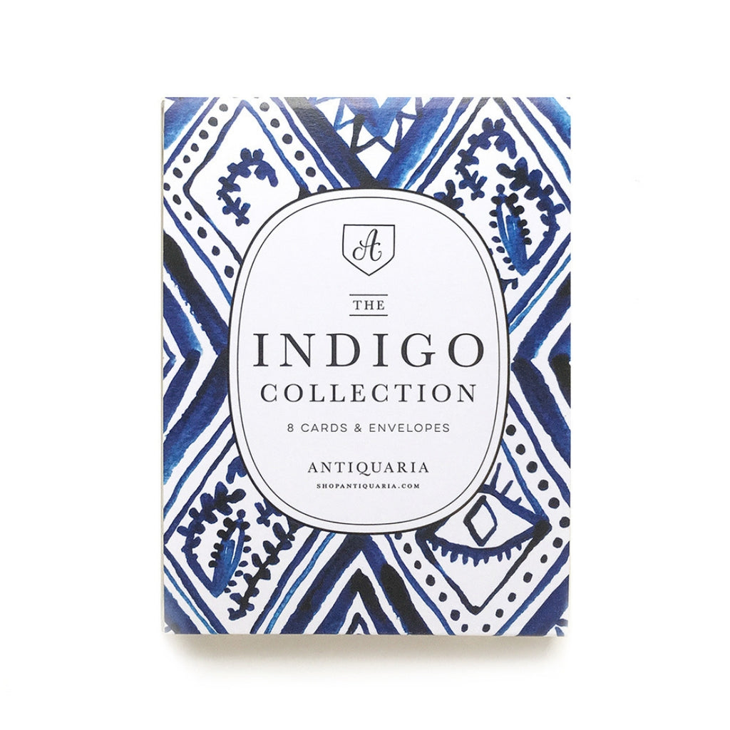 Antiquaria Indigo Collection Box Set of 8