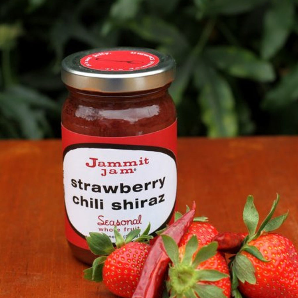 Jammit! Jam Strawberry Chili Shiraz, 8 oz. Jar