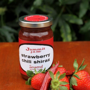 Jammit! Jam Strawberry Chili Shiraz, 8 oz. Jar - Cool Beans Box
