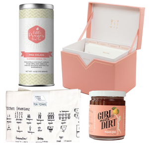 The In The Kitchen Box is a wonderful gift for all levels of cooks. It's filled with wonderful loose leaf tea, a lovely tea towel, scrumptious preserves, and a super cool and resourceful recipe box. Treat yourself or send this COOL BEANS gift box to friends, family, clients or whomever you think would love it!