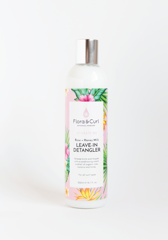 Flora & Curl: Rose + Honey Milk Conditioner (Acondicionador Desenredante Sin Aclarado para cabello rizado)