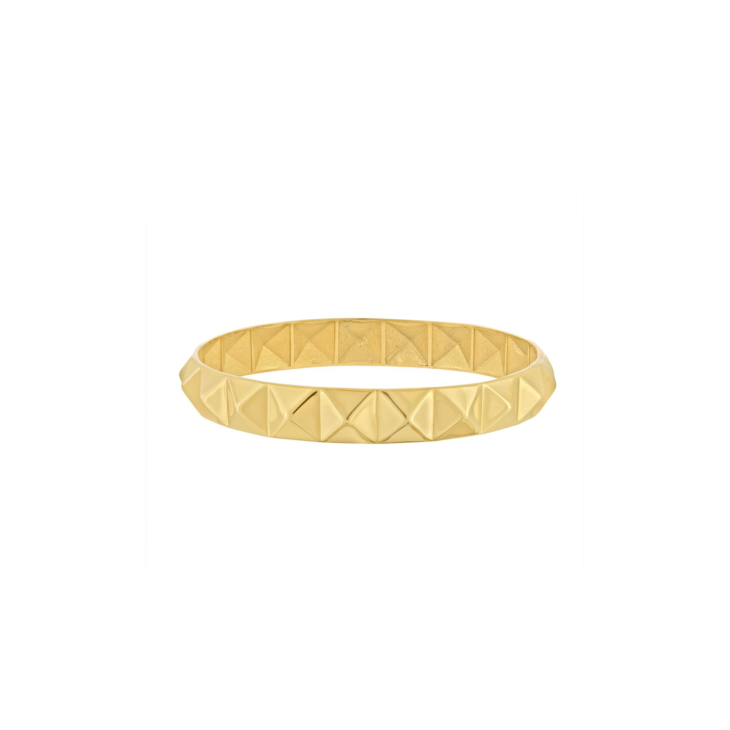 Gold Pyramid Bangle