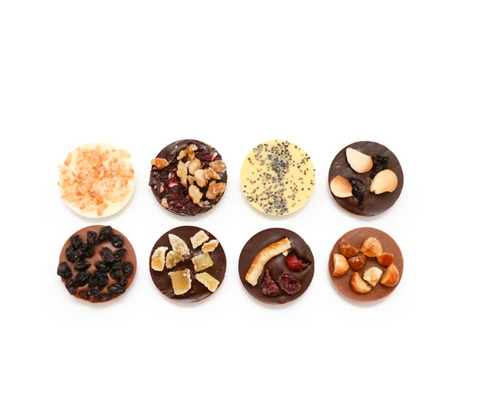 8 hand decorated gourmet chocolates