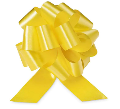 Cellophane Wrapped Container - Yellow Bow