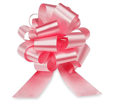 Cellophane Wrapped Container - Pink Bow