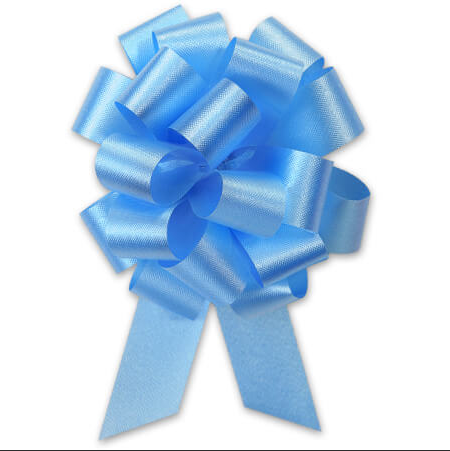 Cellophane Wrapped Container - Baby Blue Bow