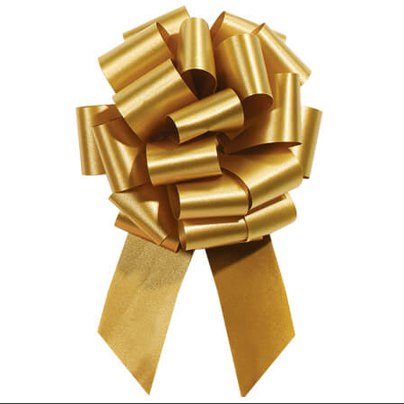 Cellophane Wrapped Container - Gold Bow