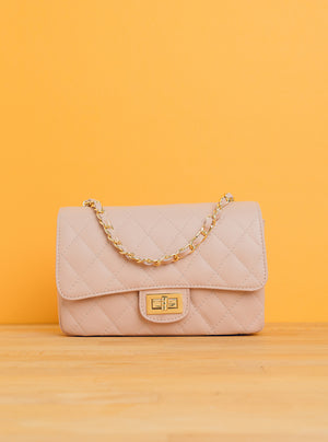 Aurora Classic Flap in Nude Pink (GHW)