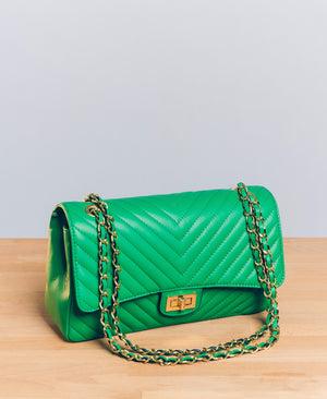 Chiara Chevron in Bright Green (GHW)