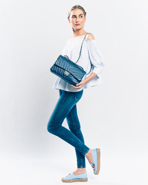 Chiara Chevron in Blue Jeans (SHW)