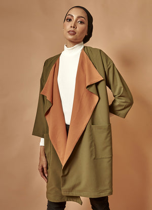 [PRE-ORDER] The Everyday Outer in Olive-Brown