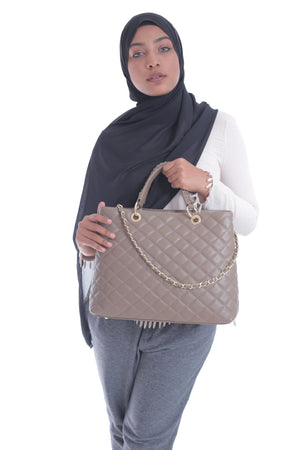 Grace Shoppers Tote in Taupe