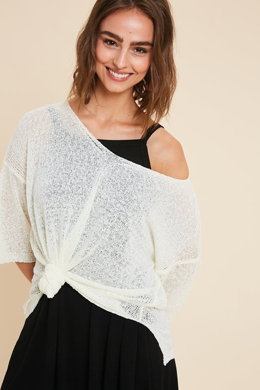 Boatneck 3/4 Sleeve Top