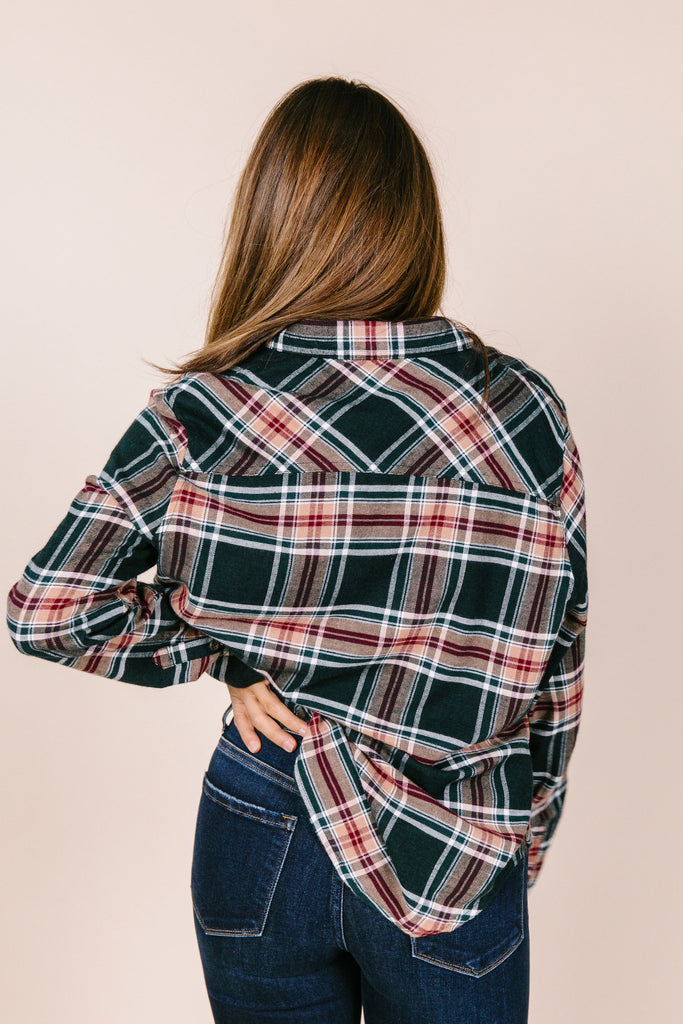 Nellie Button Down Plaid