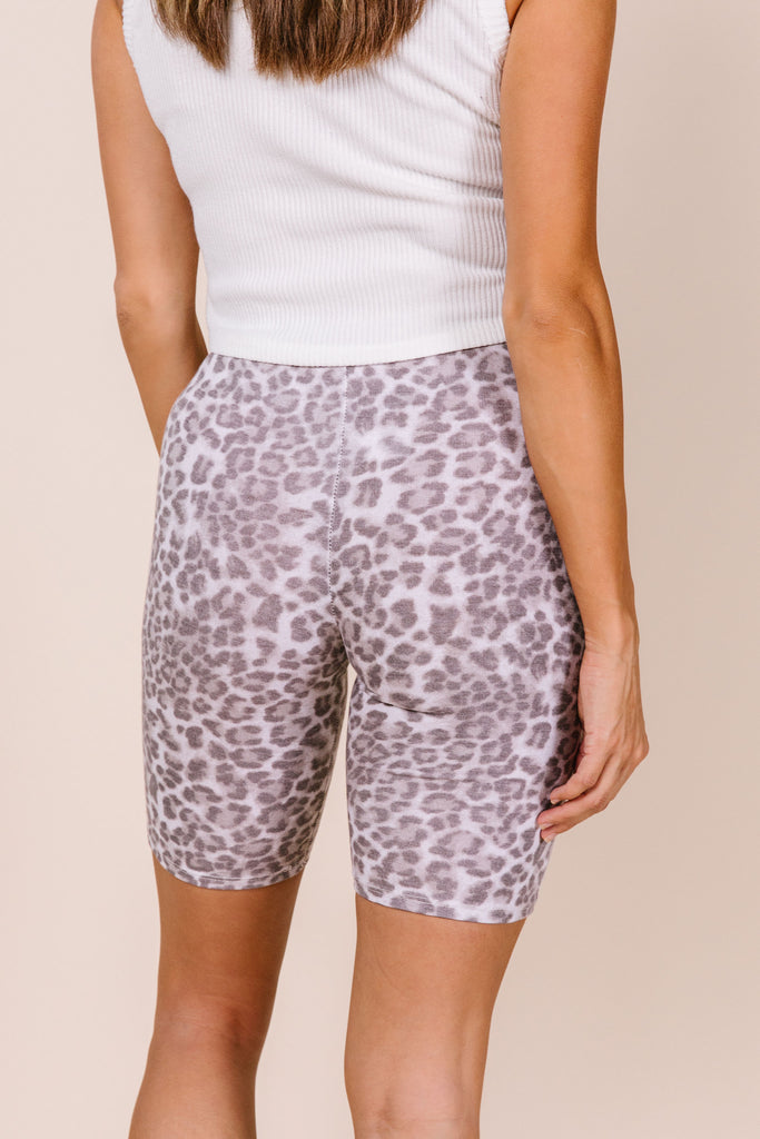 Leopard Print Bike Short