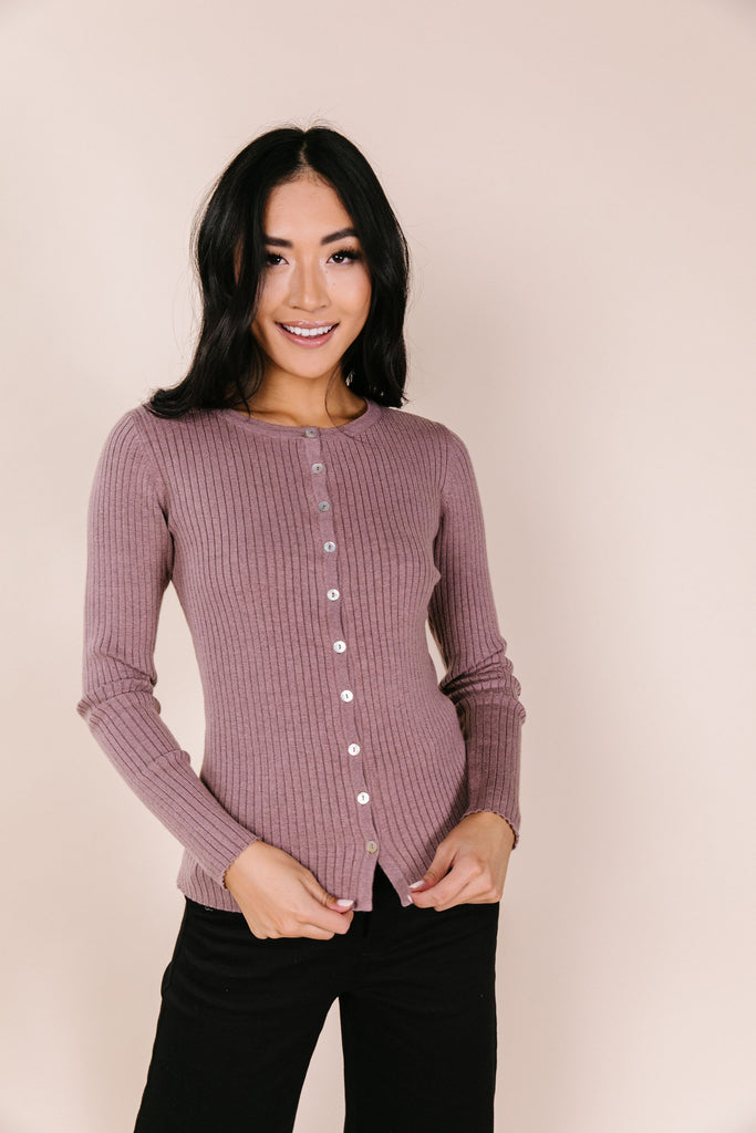 Adelle Ribbed Cardigan