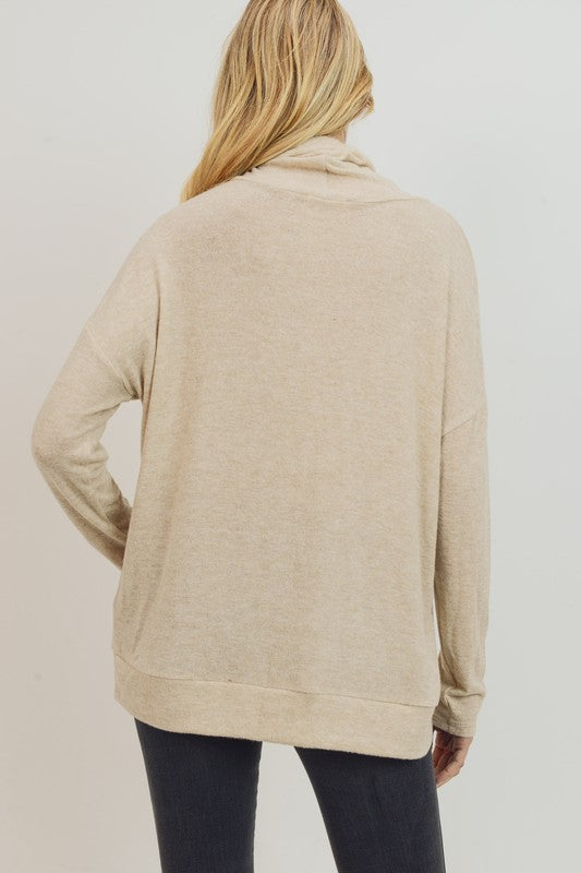 Katya Kangaroo Pocket Turtleneck