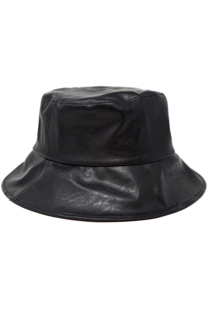 Jayden Vegan Leather Bucket Hat