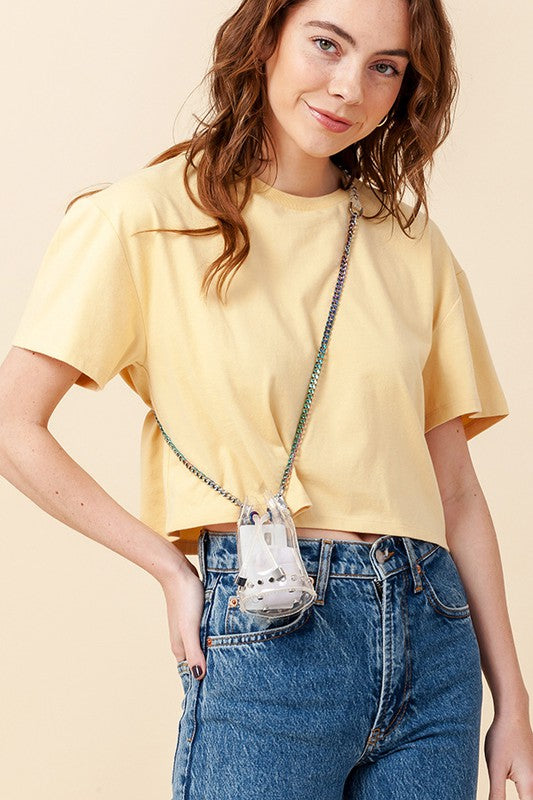 Cropped COTTON JERSEY TOP