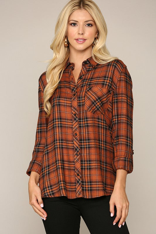 Tartan Plaid Button Down