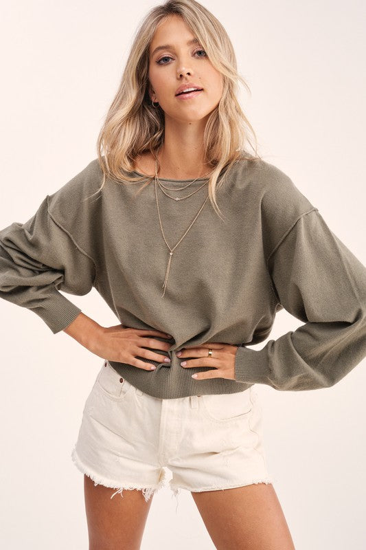 Blossom Boatneck Sweater