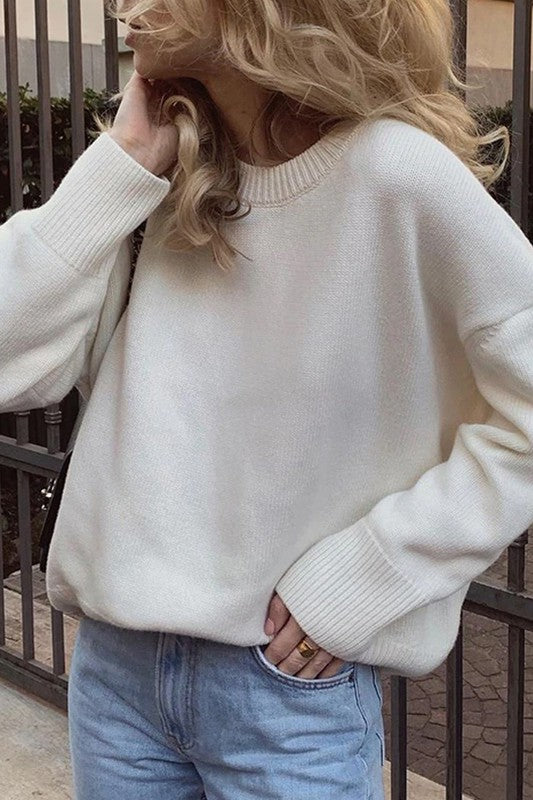 Melina Mock Neck Sweater