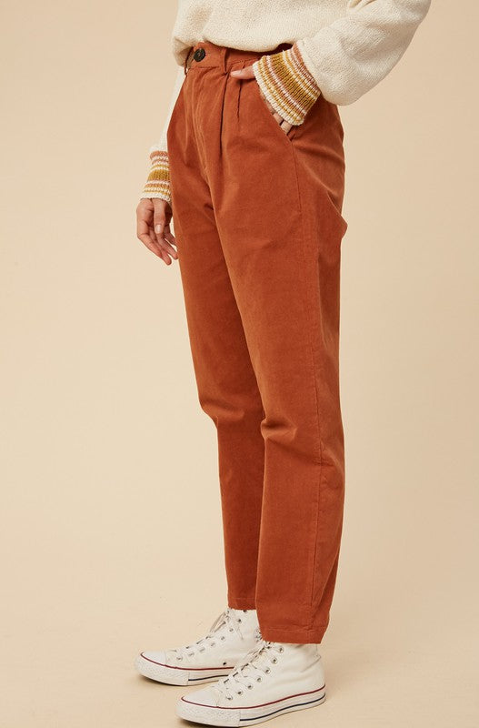 Rita High-Waisted Tapered Pant