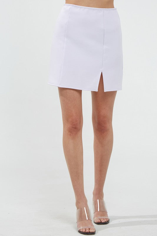 Camilla Slit Mini Skirt