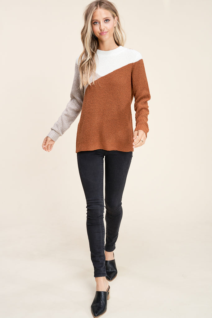 Easy Street Color Block Sweater