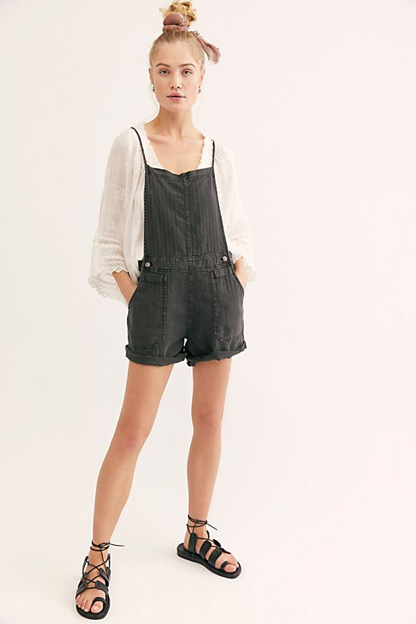 Natural Sights Linen Shortall - Free People