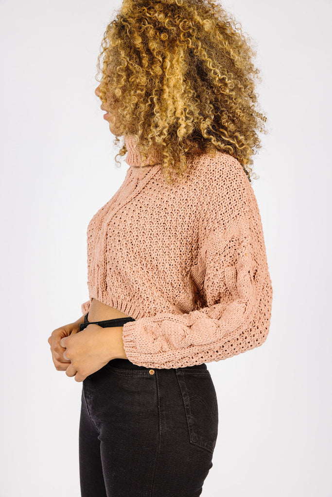 Seasons Change Cable Knit T Neck