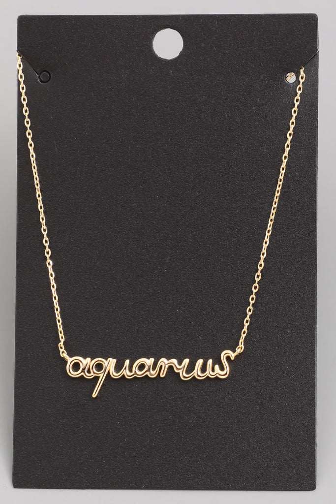 Scripted Zodiac Necklace