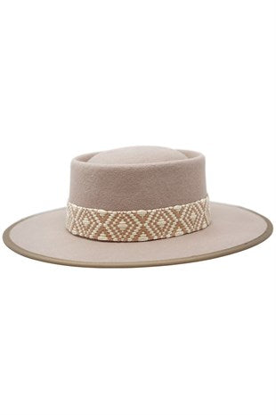 Taos Gambler Hat with Jacquard Band