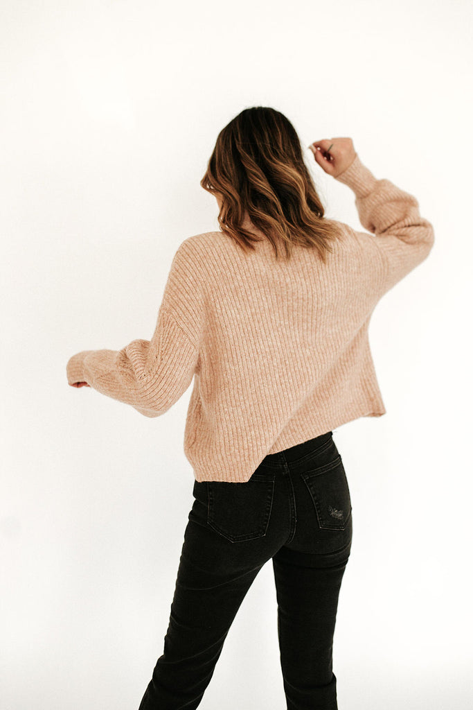 Bougie Boxy Cable Knit Sweater