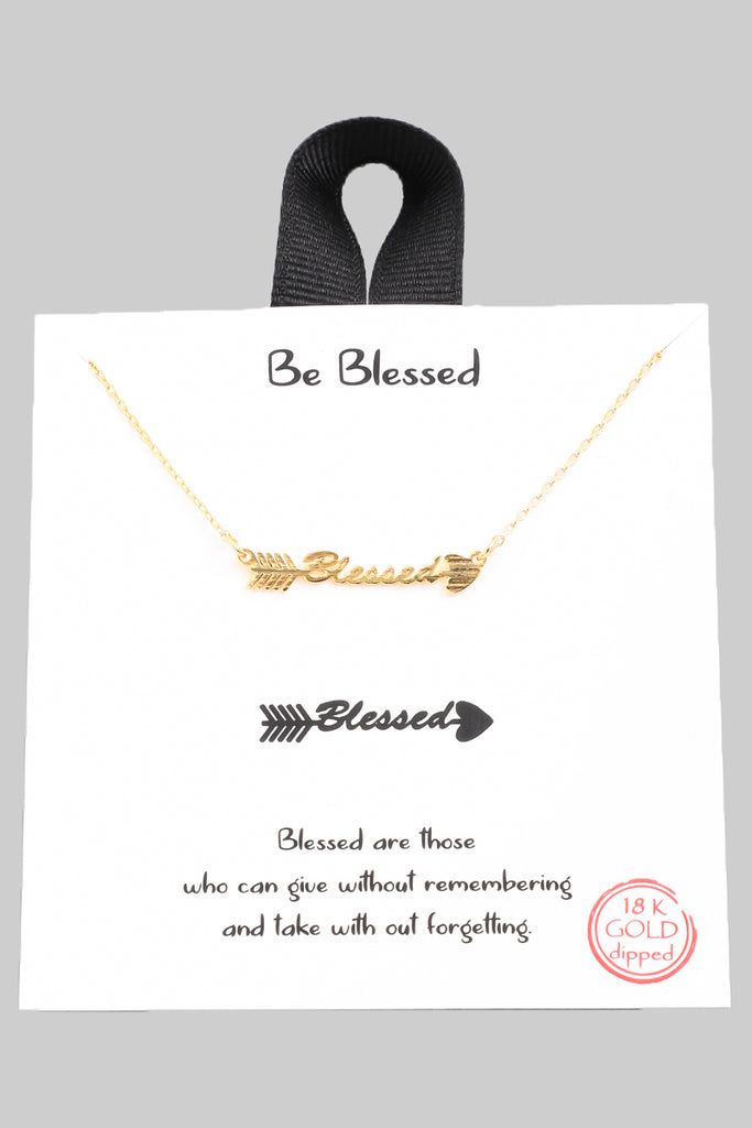 """Blessed"" Arrow Necklace"
