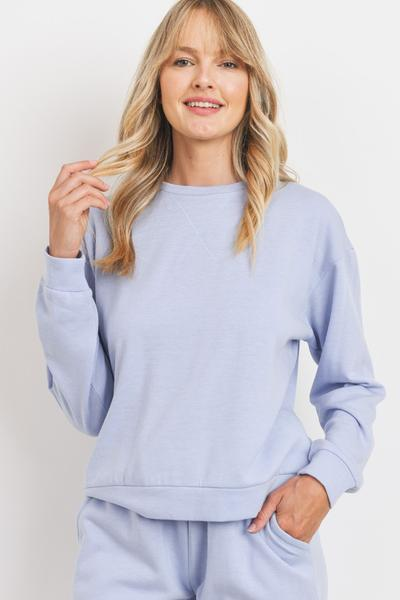 Baby Fleece Round Neck Long Sleeve Top