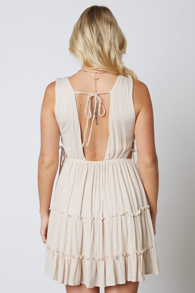 Petunia Sleeveless Plunging V Dress