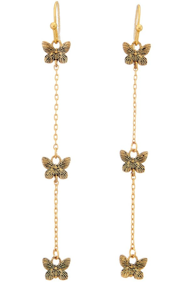 Butterfly Chain Drop Earring