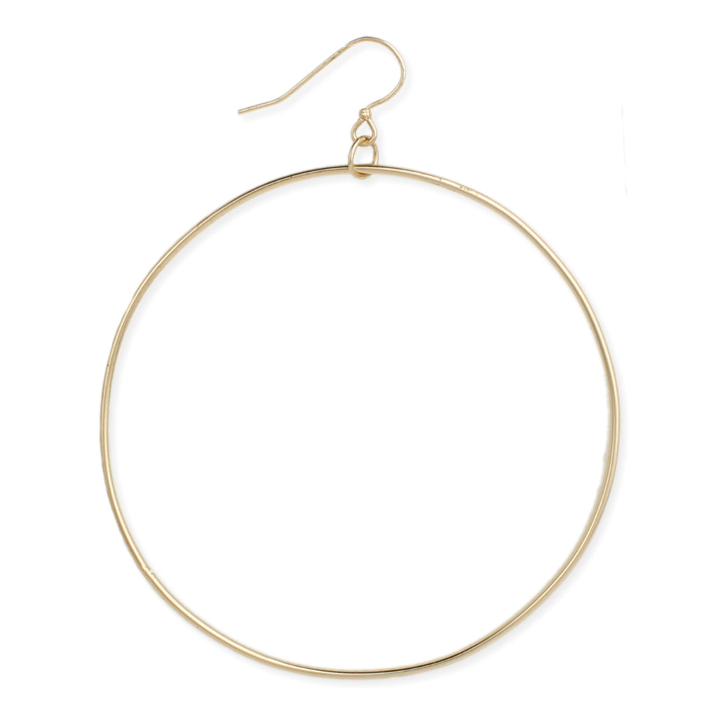 THIN WIRE ROUND EARRING