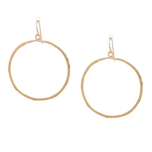 Hammered Hand Made Hoop Earring