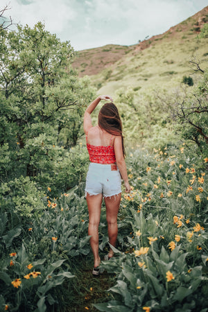 Need You Floral Smocked Tank
