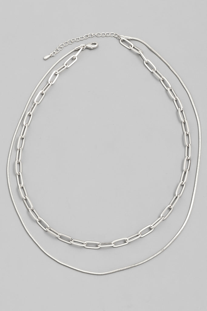 Double Oblong Chain Choker