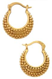 Moroccan Nights Gold Bead Studded Hoop