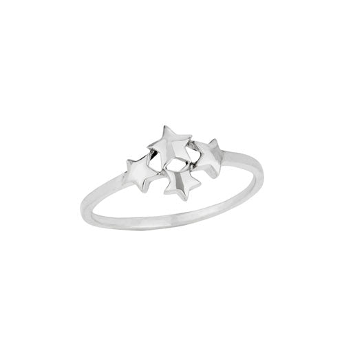 Seeing Stars Cluster Sterling Silver Ring