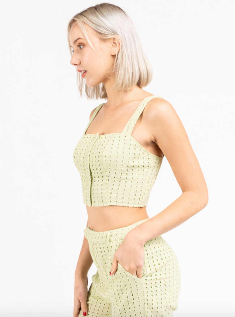 St. Barth's Eyelet Crop Top (set)